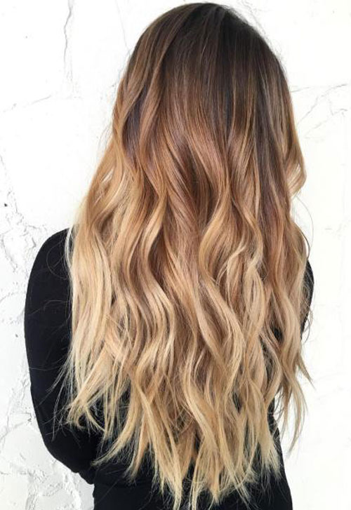 Best ombre hairstyles blonde red black and brown hair love ambie - Ombre braun blond ...