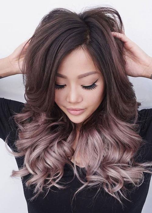 white and black hair color styles best ombre hairstyles black and brown hair 7487