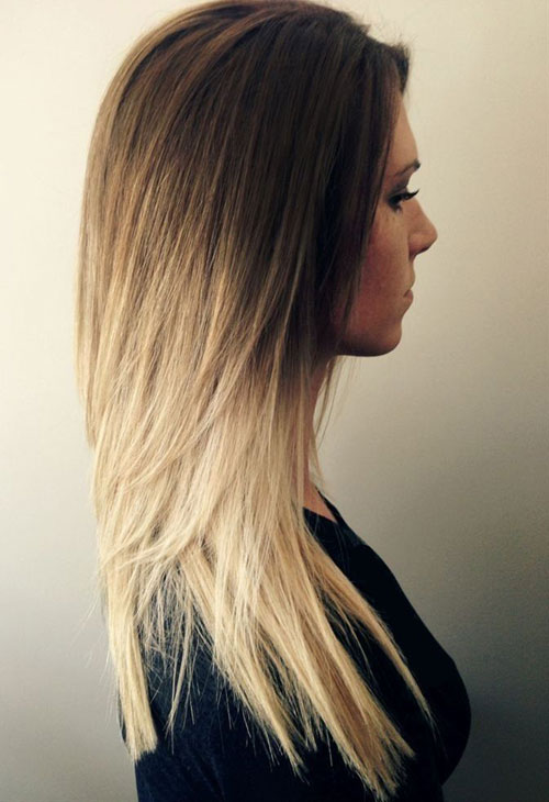 Brown to Blonde Ombre Hairstyle
