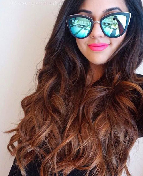 Caramel and Dark Brown Ombre
