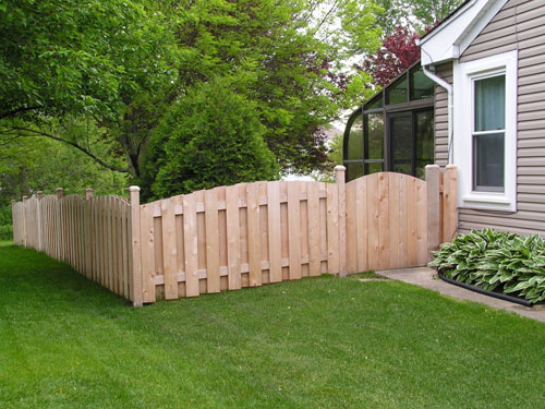 Cedar Scalloped Fence
