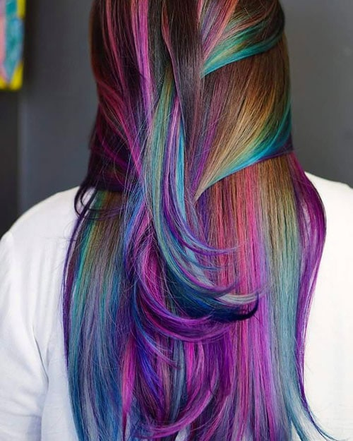 Colorful Hair Painting - Mermaid Hair Color