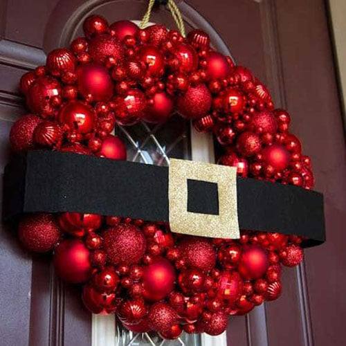 DIY Santa Christmas Wreath