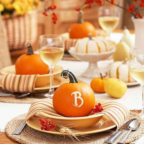 DIY Thanksgiving Decor Pumpkin