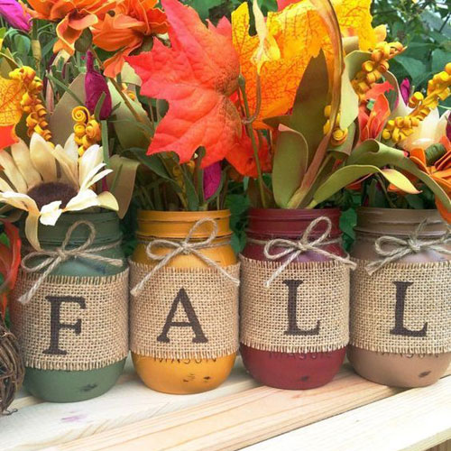 DIY Thanksgiving Mason Jar