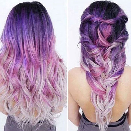 pink and purple hair styles best ombre hair 41 vibrant ombre hair color ideas 3957 | Dark to Light Purple Ombre Hair Color