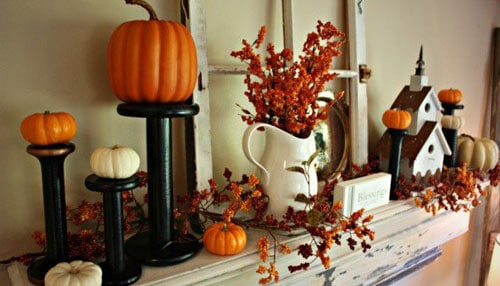Easy DIY Thanksgiving Decor - Mantle