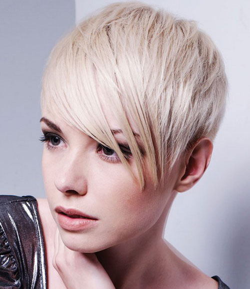 Edgy Crop Short Layers Side Bangs Pixie Cut