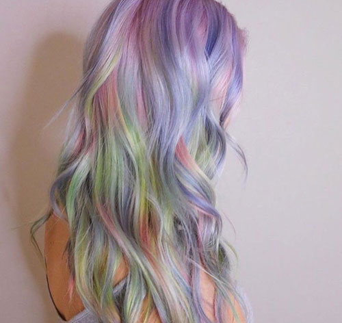 Fluid Hair Painting - Opal Color Hair