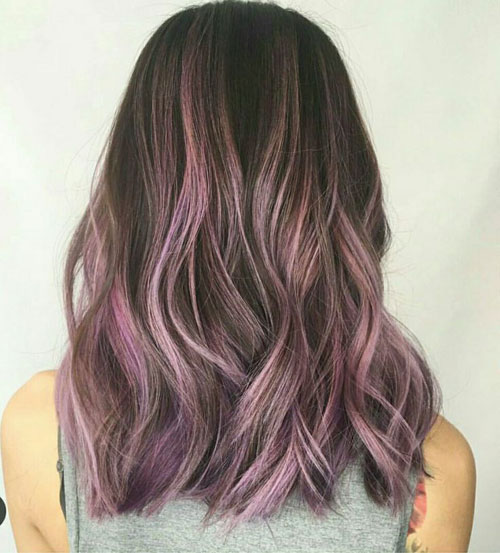 Fluid Hair Painting - Purple Hair Color