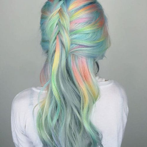 Fluid Hair Painting - Rainbow Opal Hair Color