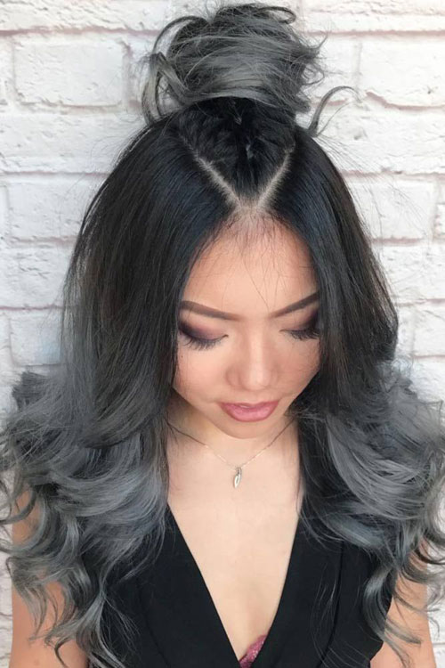 Grey Ombre Hair Color