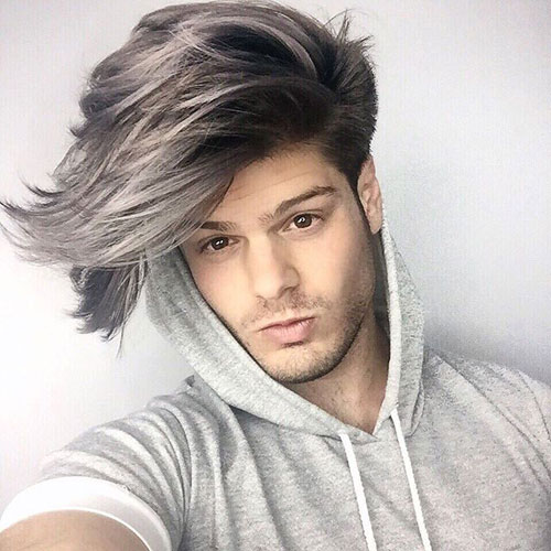 Guy Ombre Hair - Dark to Gray Ombre Hair