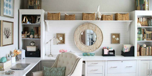 Home Office Ideas - All White Decor