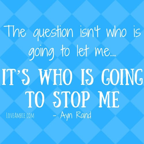 Inspirational Quote - Successful Women Quote - Ayn Rand Quote