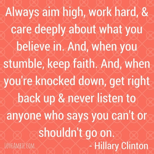 Inspirational Quote - Successful Women Quote - Hillary Clinton