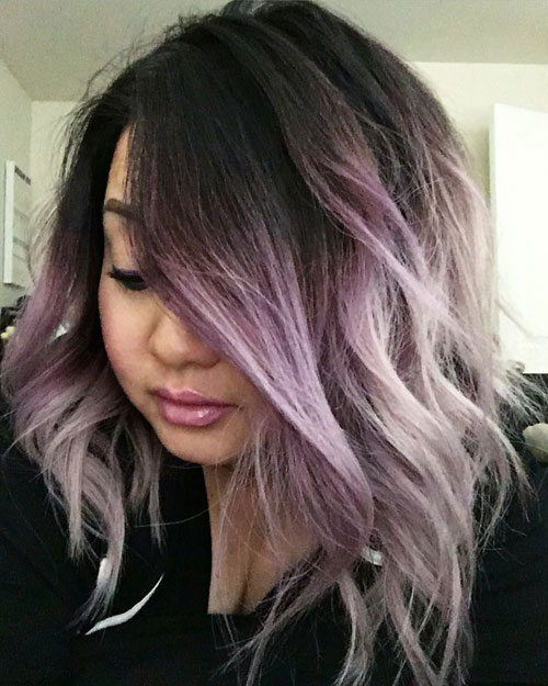 Light Purple Ombre Hair Color - Vibrant Purple Ombre Hair