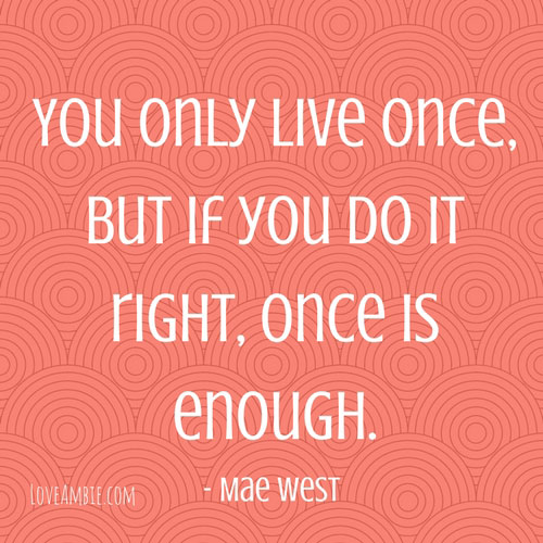 Mae West Inspirational Quote - Successful Women Quote