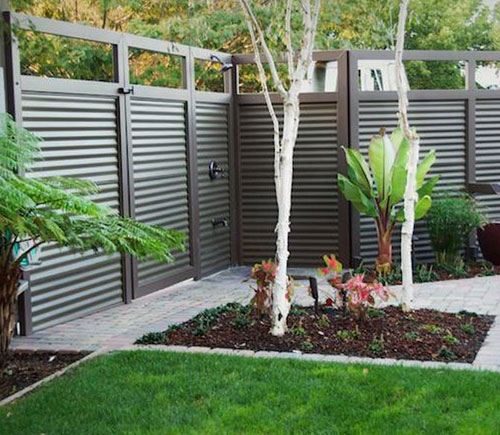 Metal Fence - Corrugated Iron Fence