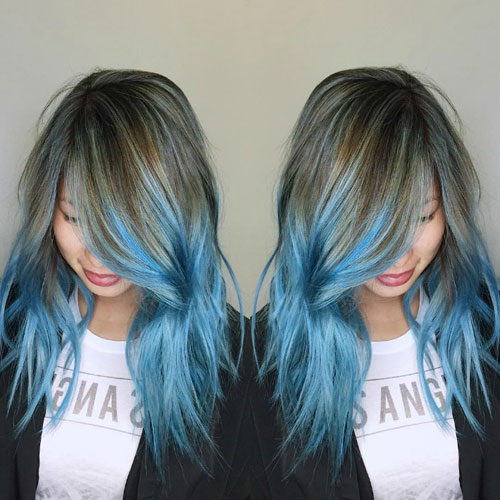 New Blue Ombre hair Color Ideas