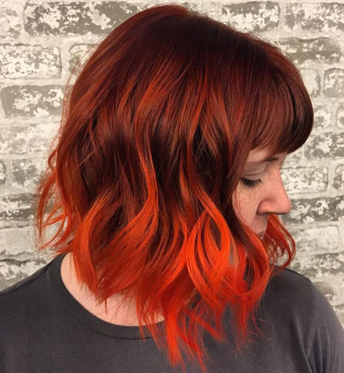 Orange Ombre Hair Color