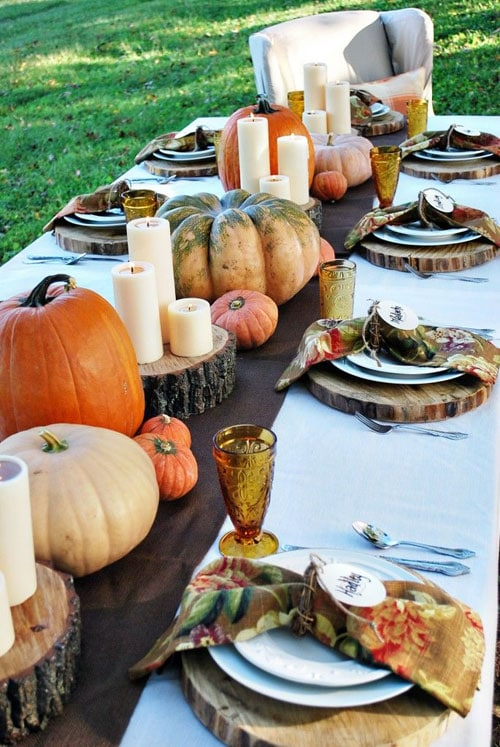 Outdoor Thanksgiving Decor Ideas Centerpiece