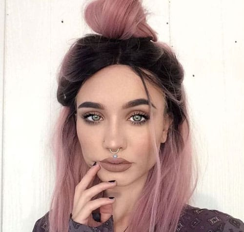 Pink Ombre Hairstyle - Ombre Color