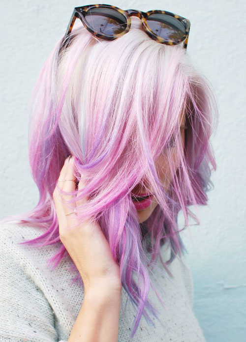 Pink and Purple Blonde Ombre