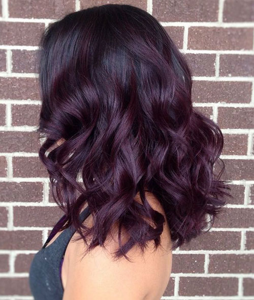 Plum To Black Ombre Hair