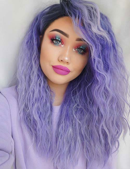 Best ombre hair 41 vibrant ombre hair color ideas love ambie purple ombre hair lavender purple ombre hair color ideas solutioingenieria Gallery