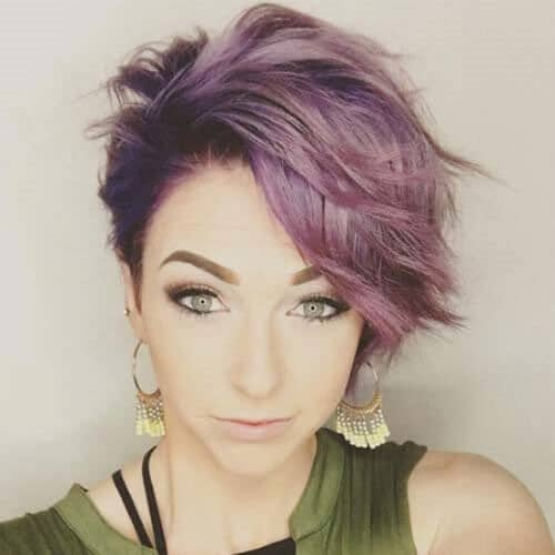 Shaggy Pixie Cut with Purple