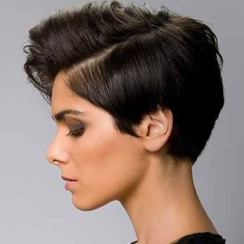 Side Part Pixie Haircut