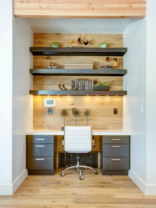 Small Home Office Decor - Modern Office Nook