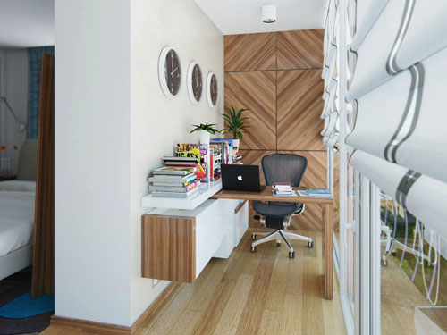 Small Home Office Design - Modern Office in Hallway