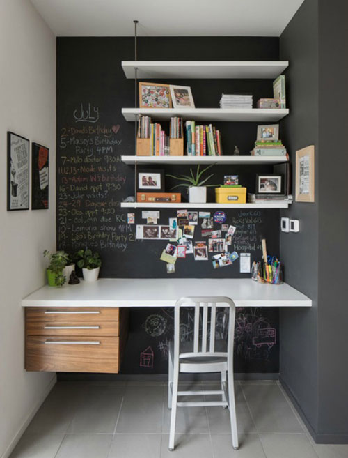 Small Home Office Ideas - Chalboard Nook - Home Office Nook
