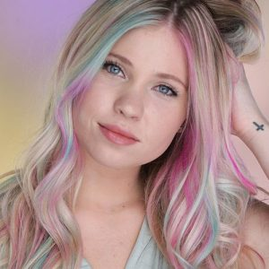 Hair painting - Touch of Mermaid color