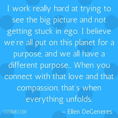 Success Quote for Women - Inspirational Quotes - Ellen DeGeneres Quote