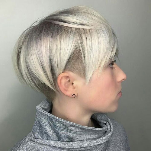 Trendy Pixie Undercut Hairstyle