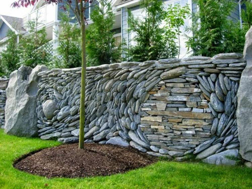 Unique Stone Fence