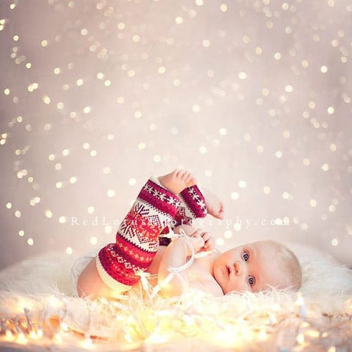 Christmas Picture Ideas - Baby Christmas Picture - Christmas Light background