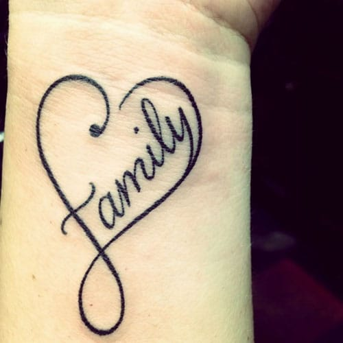 Family Heart Tattoo - Unique Heart Tattoo Ideas