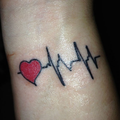 Heart Rate Tattoo