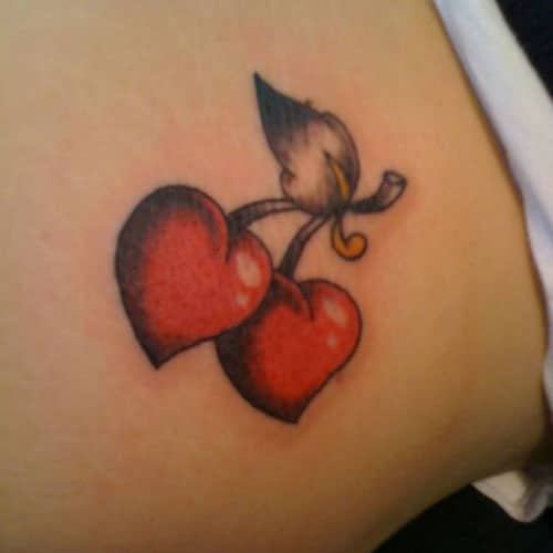 Heart Tattoo Designs - Cherry Hearts
