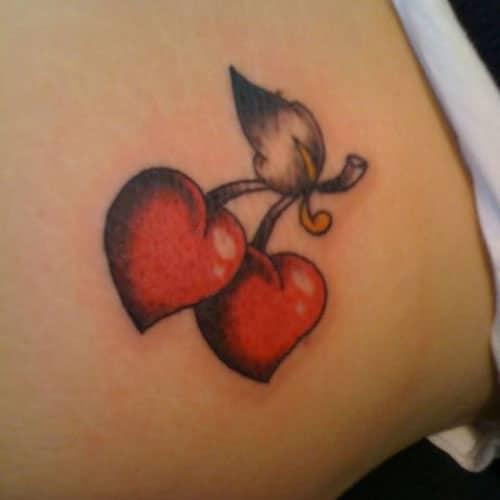 Heart Tattoo Designs - Cherry Hearts
