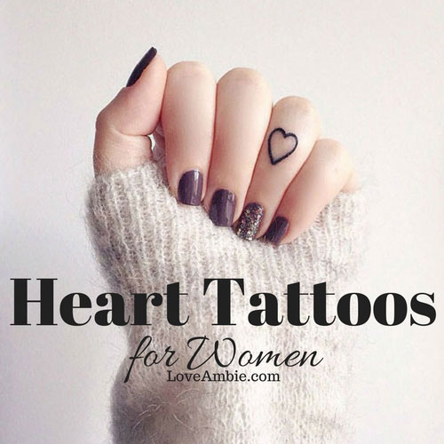 6437b289085eb 51 Cute Heart Tattoo Designs You Will Love (2019 Guide)