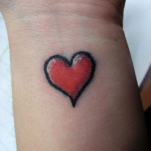 Heart Tattoo Designs simple - Heart Tattoo Ideas for Women