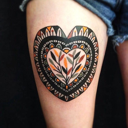 Large Heart Tattoo Design