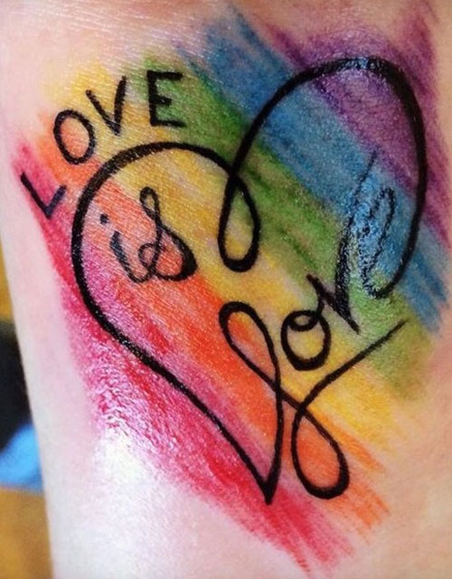 Love is Love Tattoo - Heart Tattoo Ideas