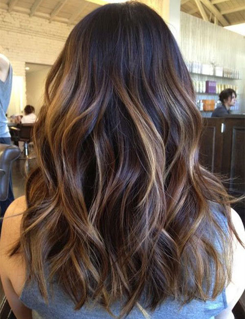 Top Balayage for Dark Brown Hair