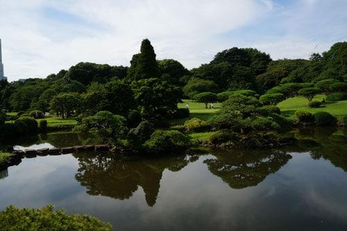 Shinjuku Gyoen National Garden Tokyo - View from Japanese Garden